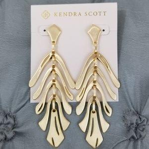 Gold, Kendra Scott, Luca, Earrings